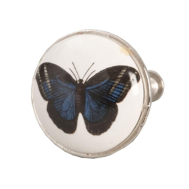 Pomello per mobili con farfalla - Maniglie e pomelli per mobili ...