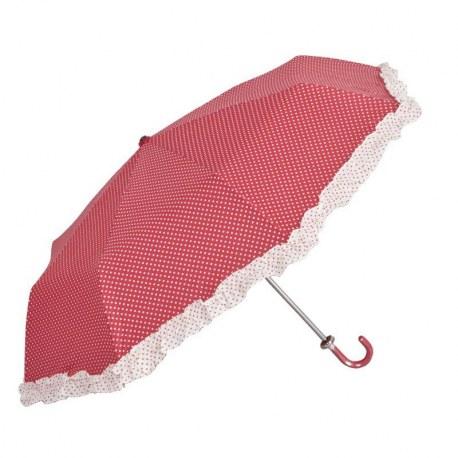 Ombrello Pois rosso e bianco