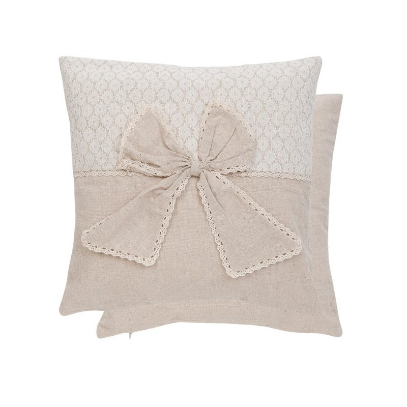 Cuscino shabby chic con fiocco tessile casa country for Cuscini shabby chic on line
