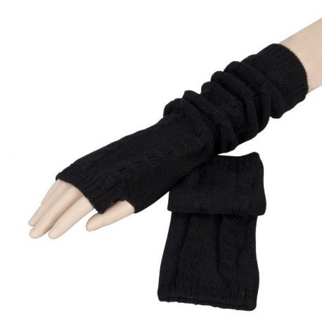 Guanti senza dita Noir