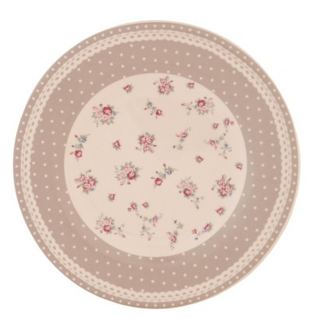 "Piatto ""Dotty Roses"" con rose e pois"