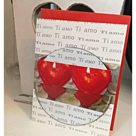Biglietto di auguri di San Valentino con cd