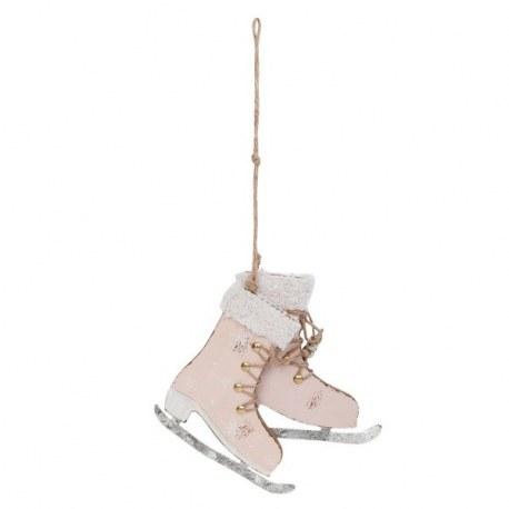 Decorazione Pattini da neve rosa Shabby chic