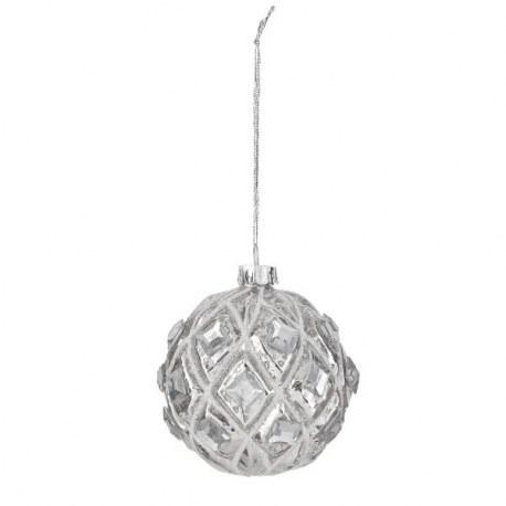 Palla di Natale argento chic