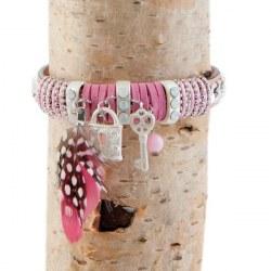 Braccialetto Keys rosa