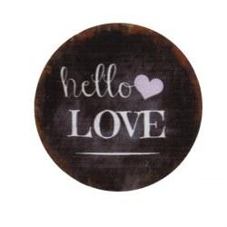 Magnete tondo Hello love