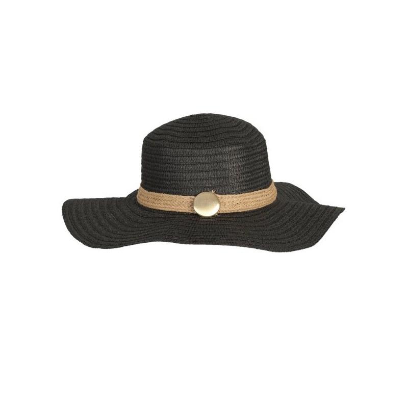 Cappello in paglia a tesa larga nero 0239f451385d
