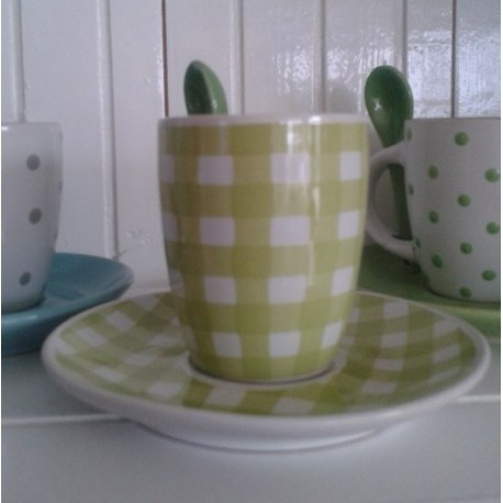 Tazzina da caffè Quadretti verdi