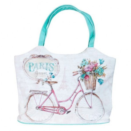 Borsa in cotone Paris forever