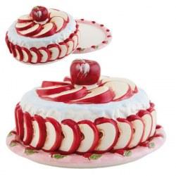 Piatto con coperchio Torta di mele