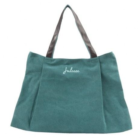 "Borsa ""Jenna"" verde in tessuto"