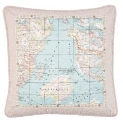 Cuscino con cartina del mondo