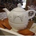 Teiera con tazza ali e stelle