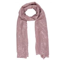Sciarpa rosa illuminata d'argento