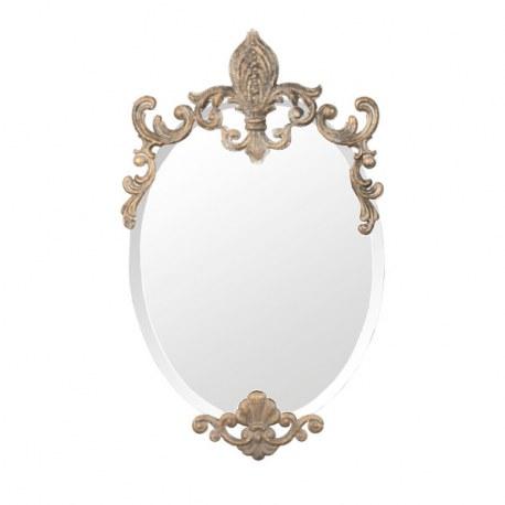 Specchio ovale in stile barocco