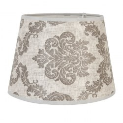 Paralume in stoffa grigia shabby chic