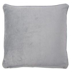Cuscino in velluto grigio chiaro