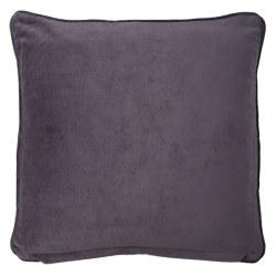Cuscino in velluto grigio scuro