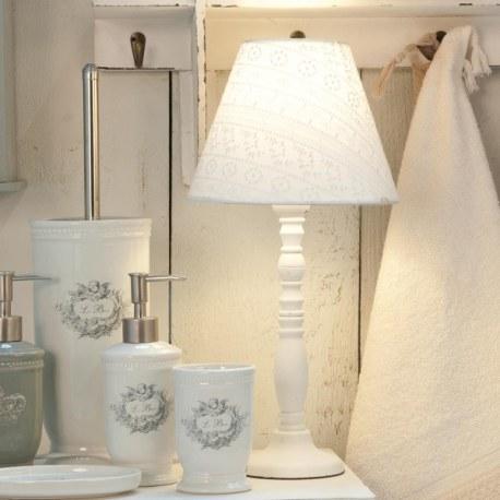 Base per lampada shabby bianca