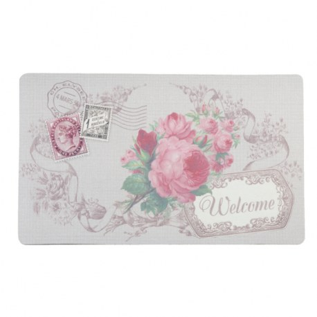 """Tappetino """"Welcome"""" con fiori"""