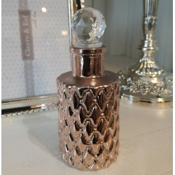 Bottiglia chic in vetro color bronzo
