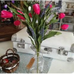 Mazzo di tulipani fucsia