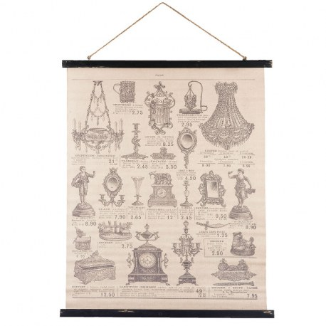 Stampa in lino vintage chic