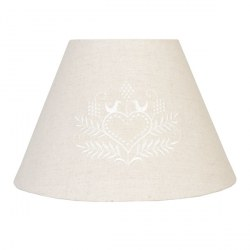 Paralume country beige con cuore