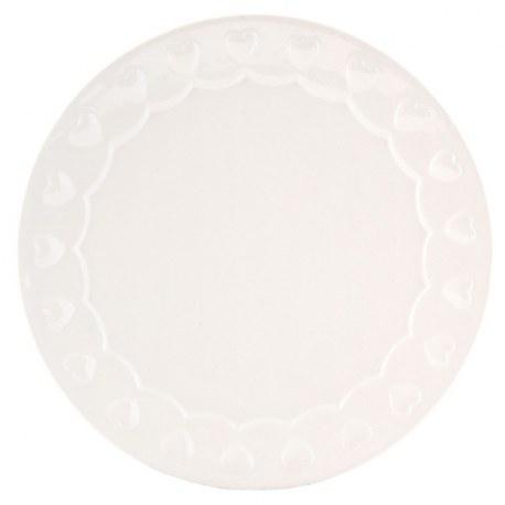 Piatto da dolce in ceramica con cuori