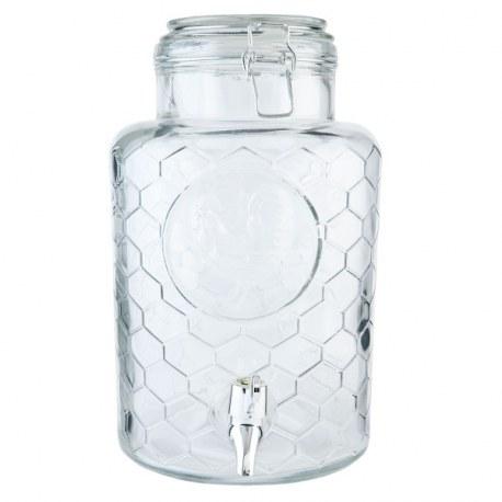 Dispenser per bevande in vetro con rubinetto