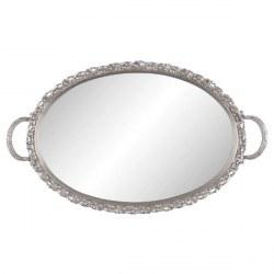 Vassoio argentato con specchio