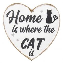 Targa cuore con gatto