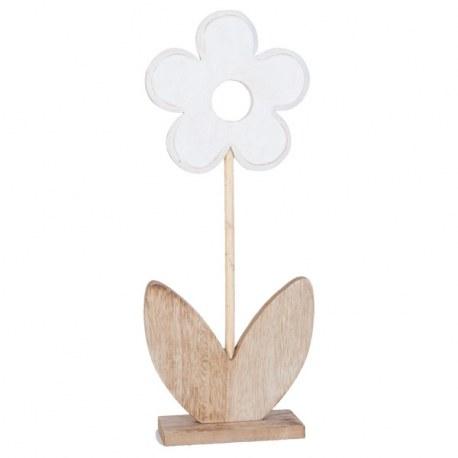 Fiore bianco in legno