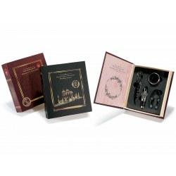 Accessori vino in confezione a libro colore rosso