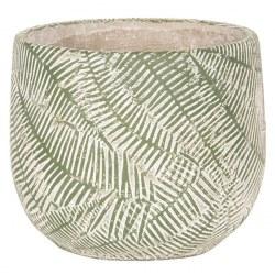 Vaso in pietra verde e grigio