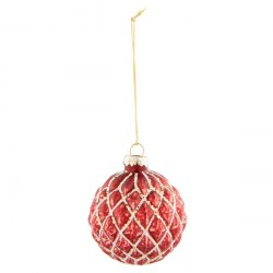Palla di Natale rossa oro