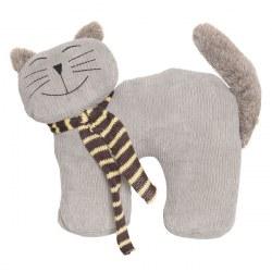 Fermaporta gatto grigio