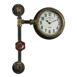Orologio da parete industrial steampunk