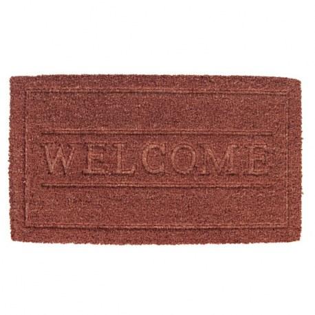 Zerbino Welcome in fibra di cocco marrone
