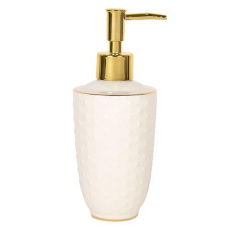 Portasapone liquido elegante bianco e oro