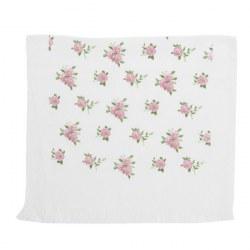 Asciugamano ospiti fiori rosa