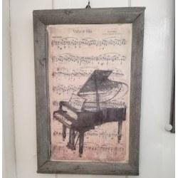 Quadro Pianoforte e note musicali