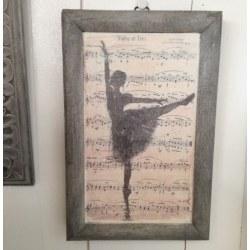 Quadro Ballerina e note musicali