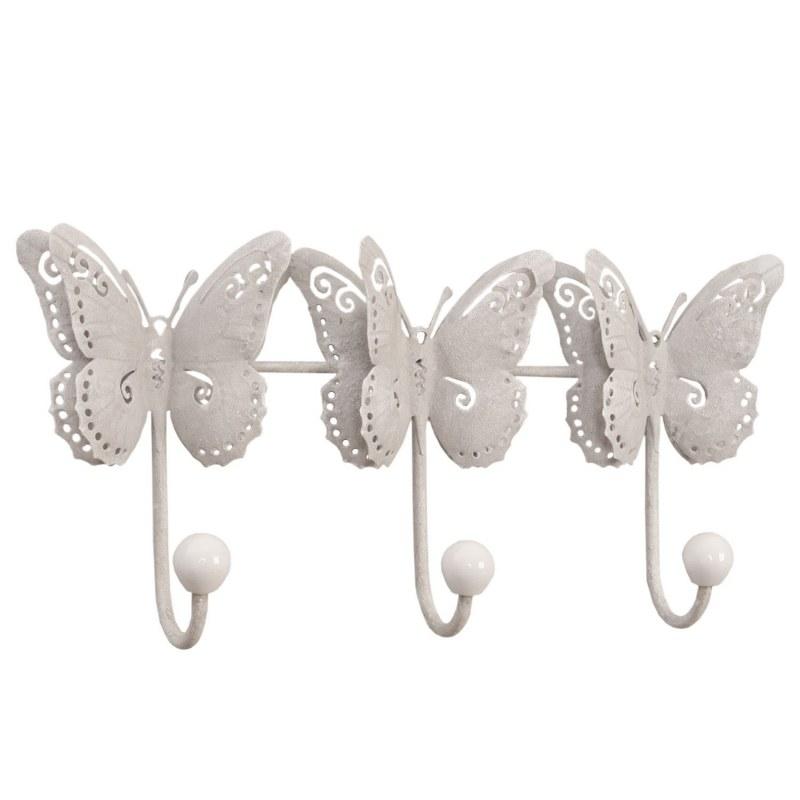 Appendiabiti farfalle decorazioni casa country shop online for Decorazioni casa online