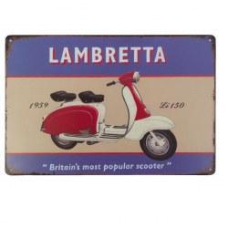 Targa vintage Lambretta