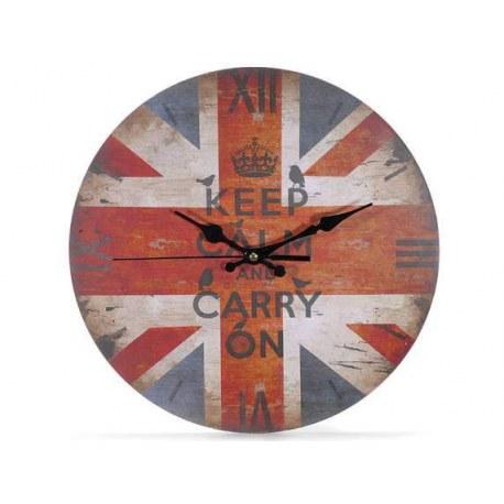 Orologio da parete Keep calm and carry on